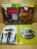 Xbox 360 Video Game Lot Hitman Absolution Ninja Gaiden II 2 Circle of Doom