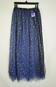 Claire's Halloween - Blue and Purple Cosmic Stars Witch Cape - One Size (New)