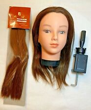 Mannequin Hairdressing Styling Block Head + Clamp & Extension Hair for Practise