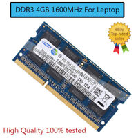 For Samsung 4GB PC3-12800 DDR3 1600MHz SODIMM Laptop Notebook RAM Memory RH Lot