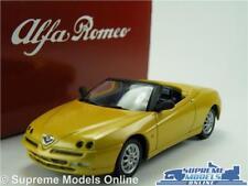 Alfa Romeo Spider Coche Modelo 1:43 tamaño Solido & Distribuidor De Estaño Especial Amarillo T34