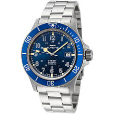 Glycine Men's 3908.188AT.B1.MB Combat Sub Automatic 42mm Blue Dial - GL0077