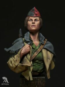 IN STOCK! No Pasarán! Militia women Barcelona Painted Toy Soldier Bust | Museum