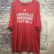 Adidas Men's Louisville Cardinals Football Climalite Tee Jersey Shirt 2XL XXLRed