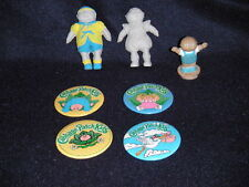 Lot of 7 1983 Cabbage Patch Kids Metal Pinback Pins Buttons Figurines Vintage
