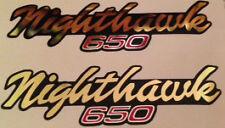 HONDA CB650 CB650SC NIGHTHAWK SIDE PANEL DECALS