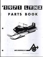 1971 ARCTIC CAT SNOWMOBILE LYNX  PARTS MANUAL