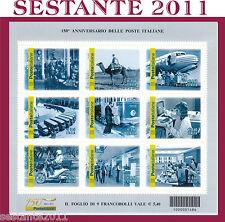 ITALIA 2012 FOGLIETTO 150° POSTE ITALIANE, CODICE BARRE 1486 MNH**  LEGGI TESTO