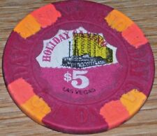 $5 VINTAGE 7TH EDT GAMING CHIP FROM THE HOLIDAY CASINO LAS VEGAS