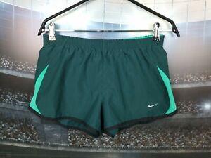 Women's Nike Running Shorts Size M Dri-Fit Green Sprinter