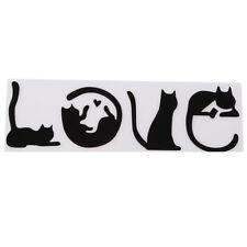 Black White I LOVE CAT Animal Cat Decoration Car Sticker Trucks Glass Window