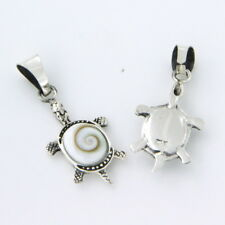 925 sterling silver Shiva eye shell gem Stone Turtle pendant new