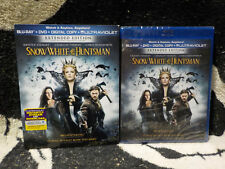 Snow White & the Huntsman Extended Ed NEW SEALED Blu Ray+DVD+Slipcover Free Ship
