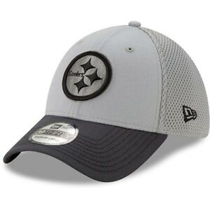 Pittsburgh Steelers New Era 39Thirty Grayed Out Neo 2 FlexFit M/L Cap Hat $28
