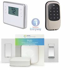 Home Automation Kit Smartthings Hub, Thermostat, Yale Z-wave Lock & Lighting