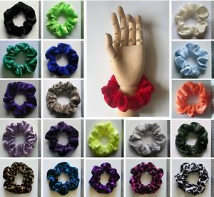ONE VELVET SCRUNCHIE - Choose From Large Selection of Colours *MADE IN UK*