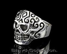 Motorcycles Biker Skull Men Ring R-238 Size 10 Hallmark 925 Sterling Silver New