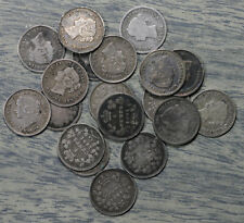 18 Canada Queen Victoria 5 Cent Silver Coins - 1874 -1901