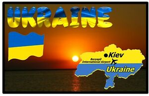 UKRAINE - SOUVENIR NOVELTY FRIDGE MAGNET, SIGHTS / MAP / FLAGS / NEW / GIFTS