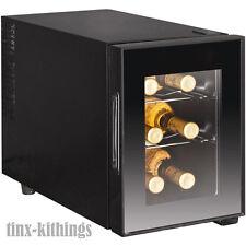 Mini Wine Cooler Chiller Small Fridge 6 Bottle Champagne Bar Cellar Refrigerator