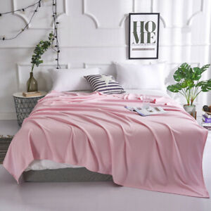Bamboo fiber silky quilt Bed cover Luxury super cool soft blanket for hot summer