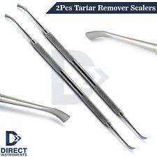 2pcs Dental Tartar Remover Scalers Teeth Scraper Calculus Plaque Removal Tools