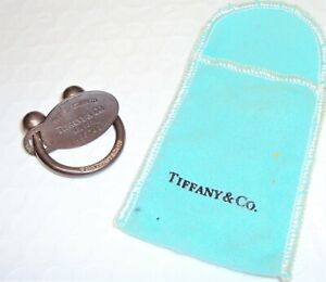 Tiffany & Co Sterling Silver Horseshoe Keyring and Return To Tab
