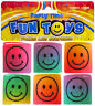 6 Mini Smiley Plastic Springs - Slinky Pinata Toy Loot/Party Bag Fillers Kids