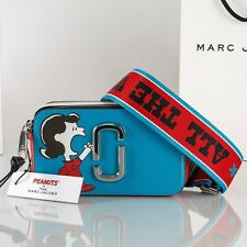 Marc Jacobs X Peanuts Blue Multi Snapshot Small Camera Bag Crossbody New/auth