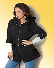 Zip Hip Length Polyamide Coats & Jackets for Women