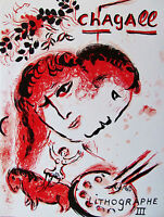 MARC CHAGALL -  LITHOGRAPH III (COVER) - 1969 - FREE SHIP IN THE US