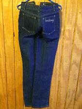 VTG Diane Von Furstenberg DVF Jeans dark wash denim high waist straight leg 4 6