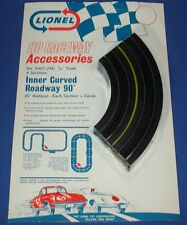 LIONEL RACEWAY ACCESSORIES HO SLOT CAR TRACK INNER CURVED ROADWAY SIX INCH 5407