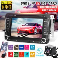 7'' Car DVD Player Radio GPS Sat Nav Stereo Camera For VW Golf MK5 Jetta Passat