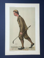 Original 1892 Vanity Fair Print of John Ball Junior - Golf Champion