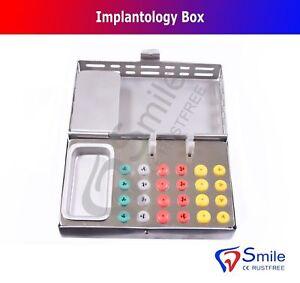 Smile® Implantology Box Dental Implant Surgical Bur Holder Endo Silicone Box New