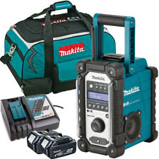 Makita DMR109 10.8v-18v LXT/CXT Job Site Radio + 2 x 5.0Ah BL1850, DC18RC & Bag