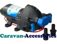 Jabsco Par-Max 2.9Fresh Water Pressure Pump 24V Self-Priming Silent Caravan/Boat