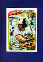 John Lowenstein 1980 TOPPS Baseball #287 (NM) Baltimore Orioles