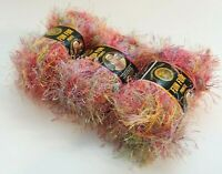 Bizzy1, Lion Brand Eyelash Yarn Fun Fur Prints #203 Confetti 3 Skeins  171 Yards