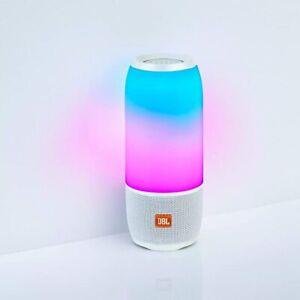 JBL PULSE 3 WHITE Pulse 3 Wireless Bluetooth IPX7 Waterproof Speaker (White), 6.