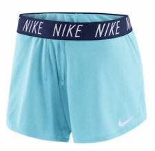 "NWT Nike Dri-FIT Women's 5"" Training Shorts Light Blue XS Style 885273-499"