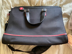 Foray Black/Red Laptop Bag Briefcase Excellent Condition!
