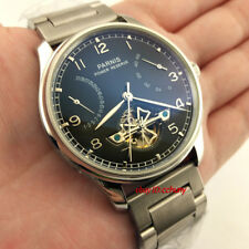 Parnis 43mm Steel Strap Power Reserve Seagull 2505 Automatic Men's Watch 2642