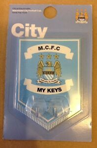 Manchester City FC Official Metal Sign w/ Hanging Key Hooks NEW