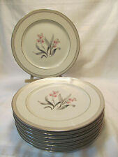 Halsey Fine China Japan EVERGLADE Eight (8) Vintage Dinner Plates VGC