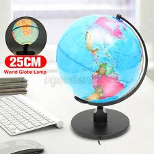 25cm Illuminated LED Light World Globe Earth For Home Bedroom Office Kids Gift