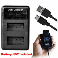 Battery Dual USB Charger for Nikon Coolpix P1000 P950 AW1 EN-EL20 EN-EL20a MH-27