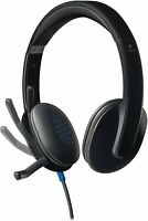 Logitech H540 Wired Headset, Stereo Headphone  Noise Cancelling Microphone USB