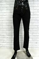 Pantalone Uomo DONDUP 34 48 Cotone Nero Jeans Corto Pants Man Herrenhose